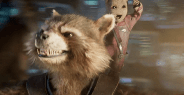 Rocket and Baby Groot in Guardians of the Galaxy Vol. 2