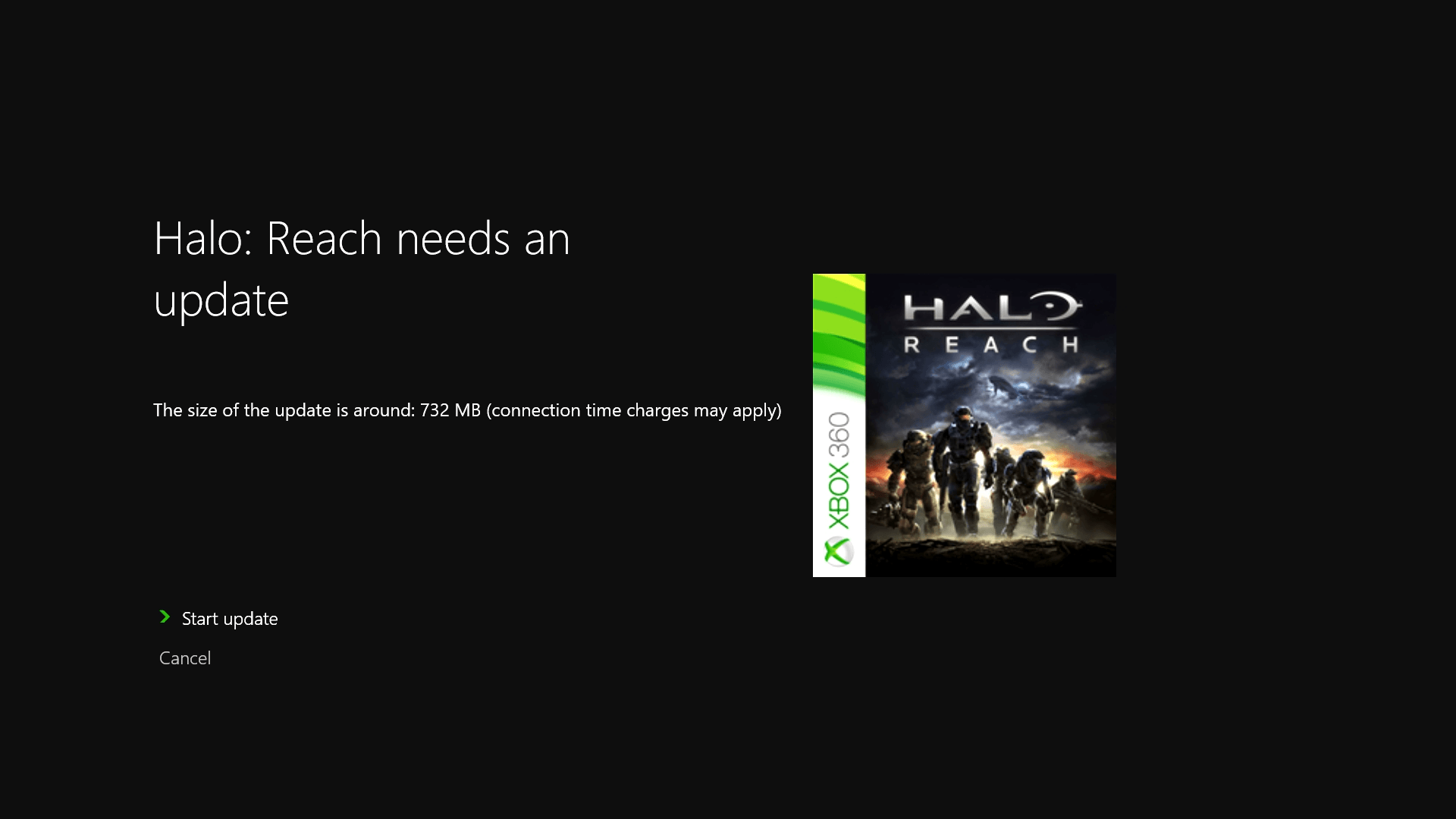 Game update required screen