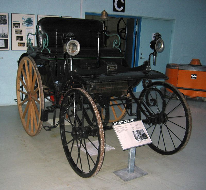 The Hammelvognen displayed in a museum.