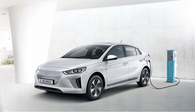 Ioniq Electric Vehicle charging