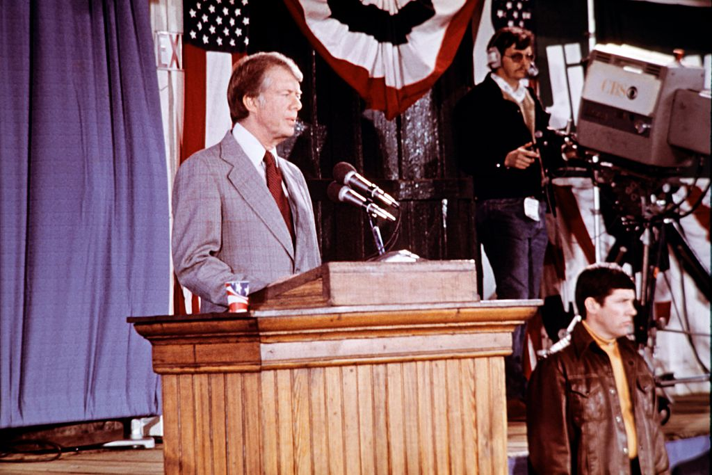 President Jimmy Carter gives a press conference