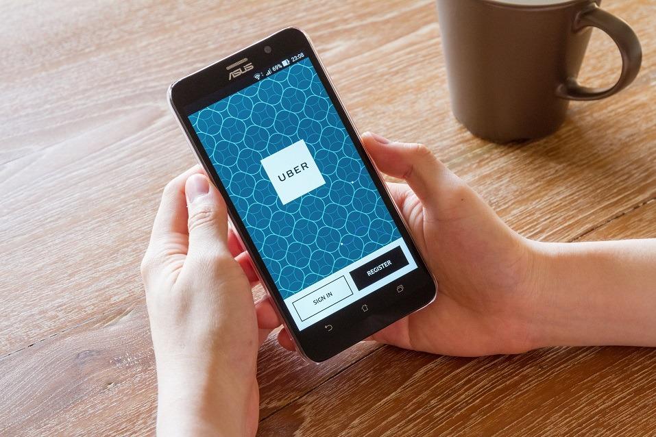 A screenshot of the Uber app