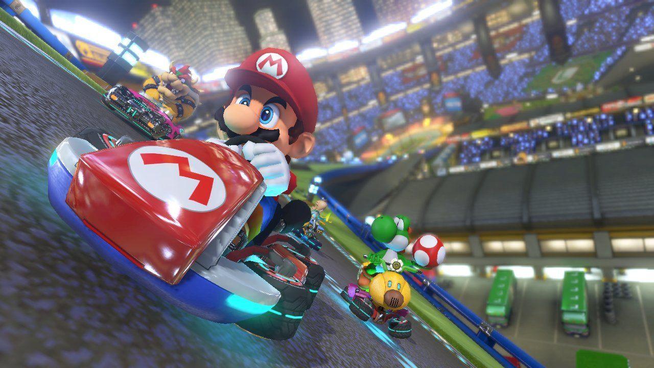 Yoshi and Mario in 'Mario Kart 8'