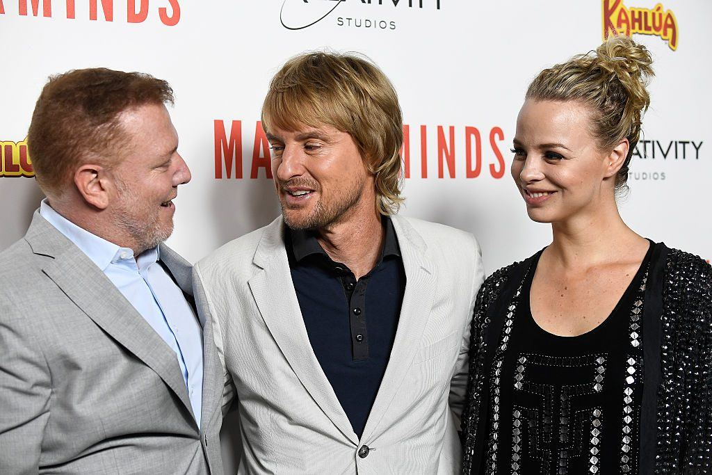 Relativity Media CEO Ryan Kavanaugh at the premiere of Masterminds with Owen Wilson and Jessica Roffey