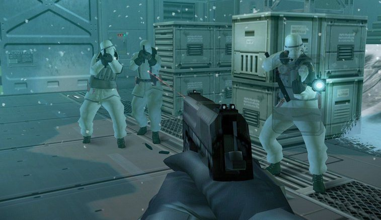 First person mode in 'Metal Gear Solid: The Twin Snakes'