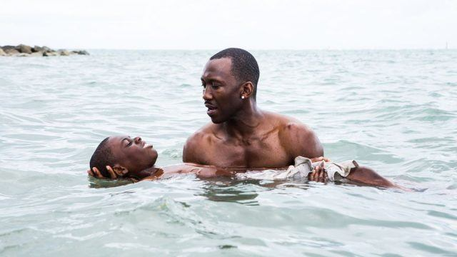 Juan (Mahershala Ali) teaches Chiron (Alex Hibbert) how to swim in 'Moonlight'