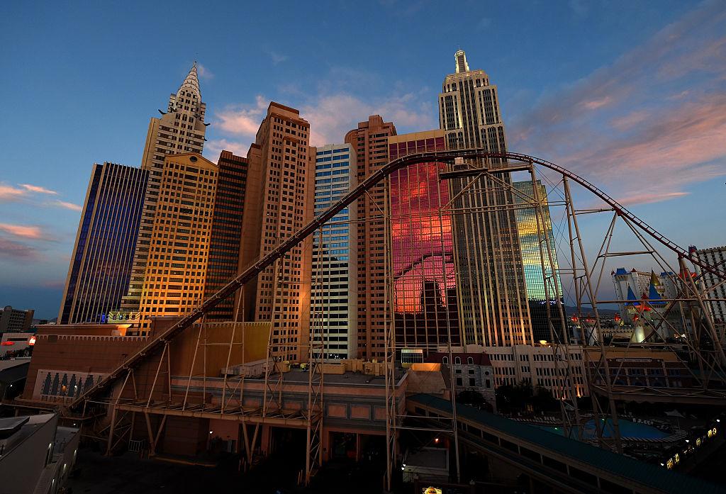 Rollercoaster at New York New York in Las Vegas