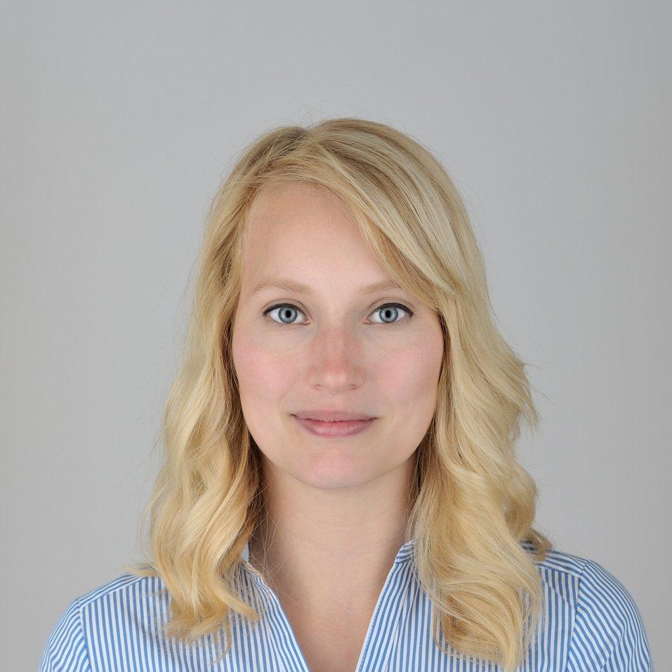 blonde caucasian woman