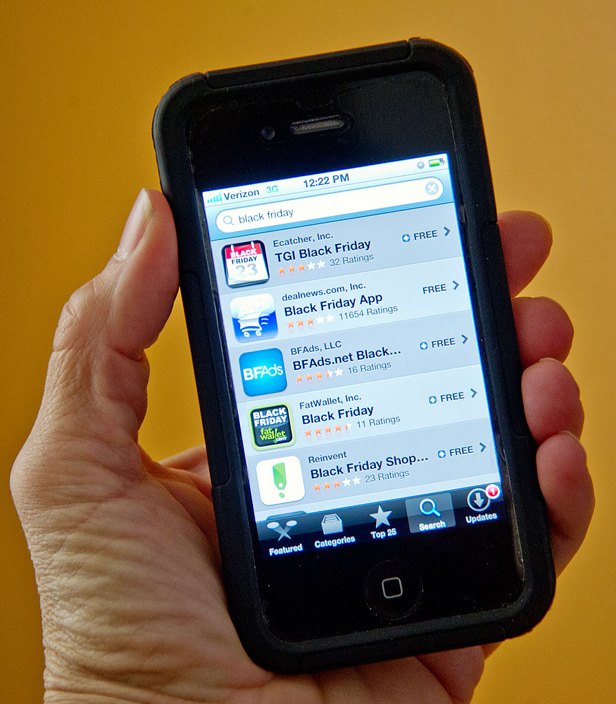 Several free apps displayed on a smartphone