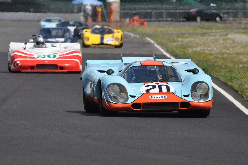 A Porsche 917 K on the race track