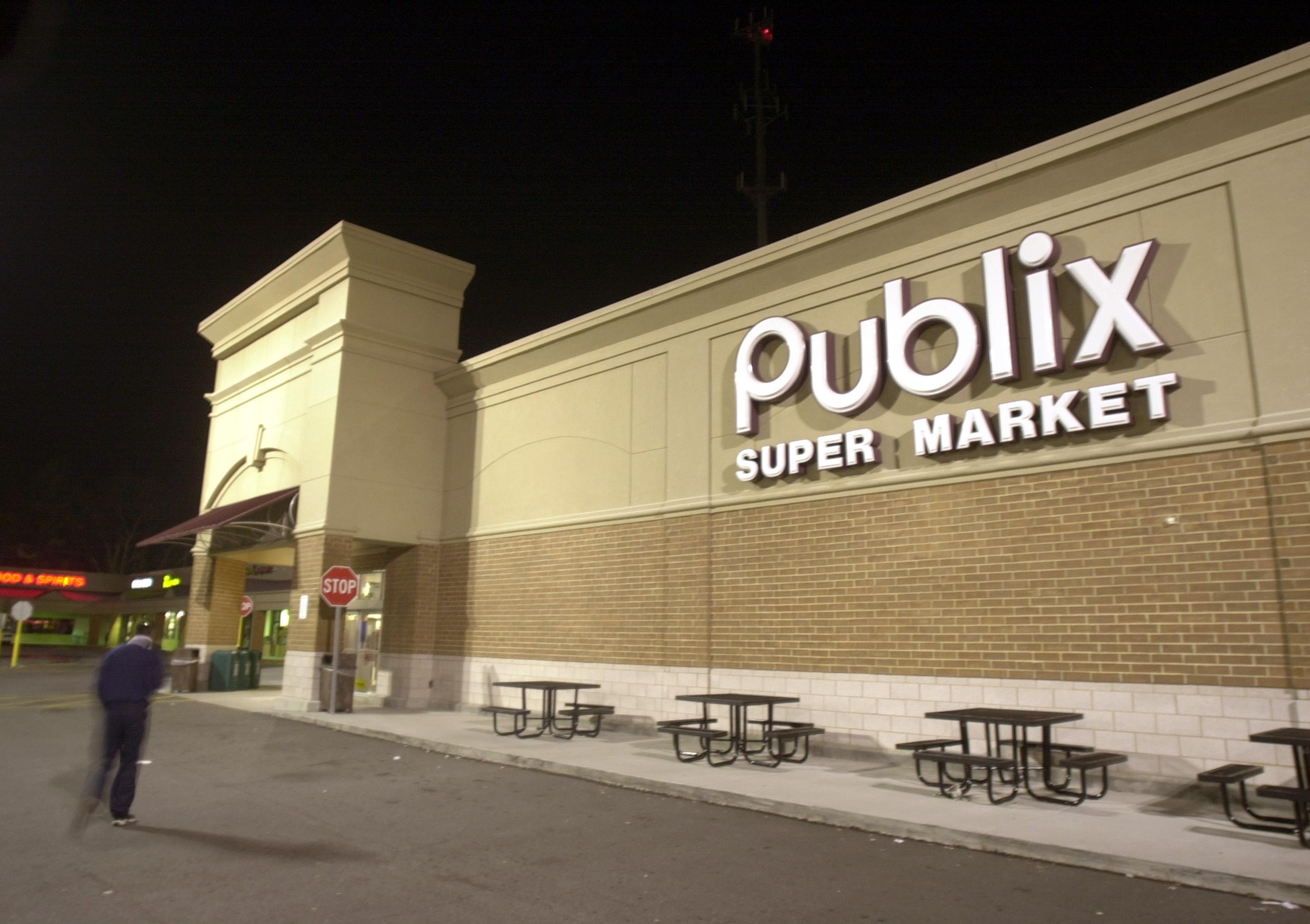 A worker strolls into a Publix Super Market