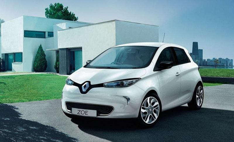 White Renault Zoe