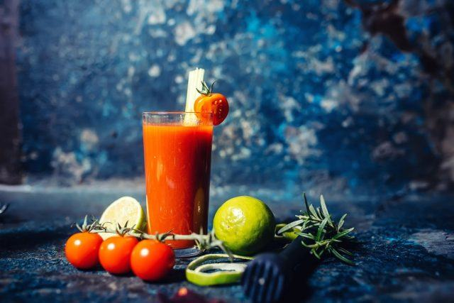 spicy Bloody Mary cocktail