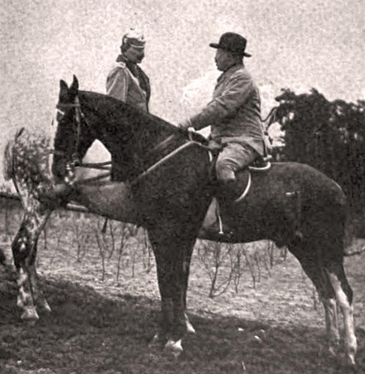 Teddy Roosevelt on horseback.