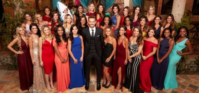 The cast of 'The Bachelor' posing together.