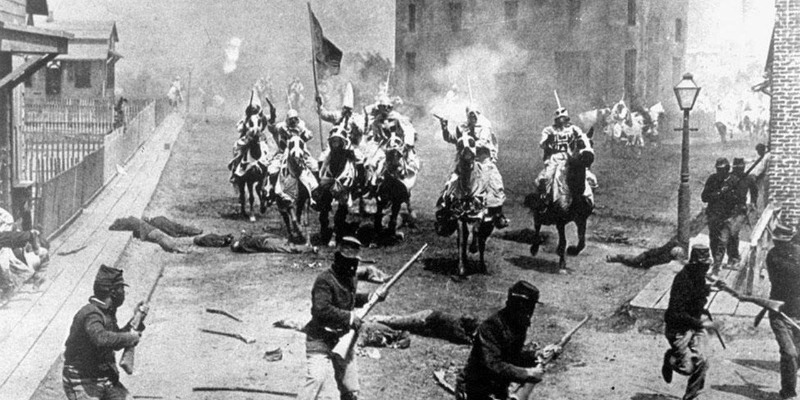 A scene from The Birth of a Nation