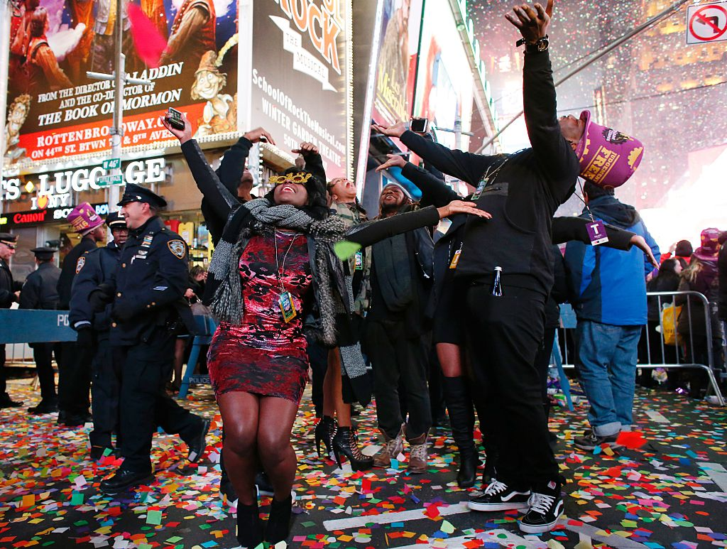 Times Square during New Year's eve