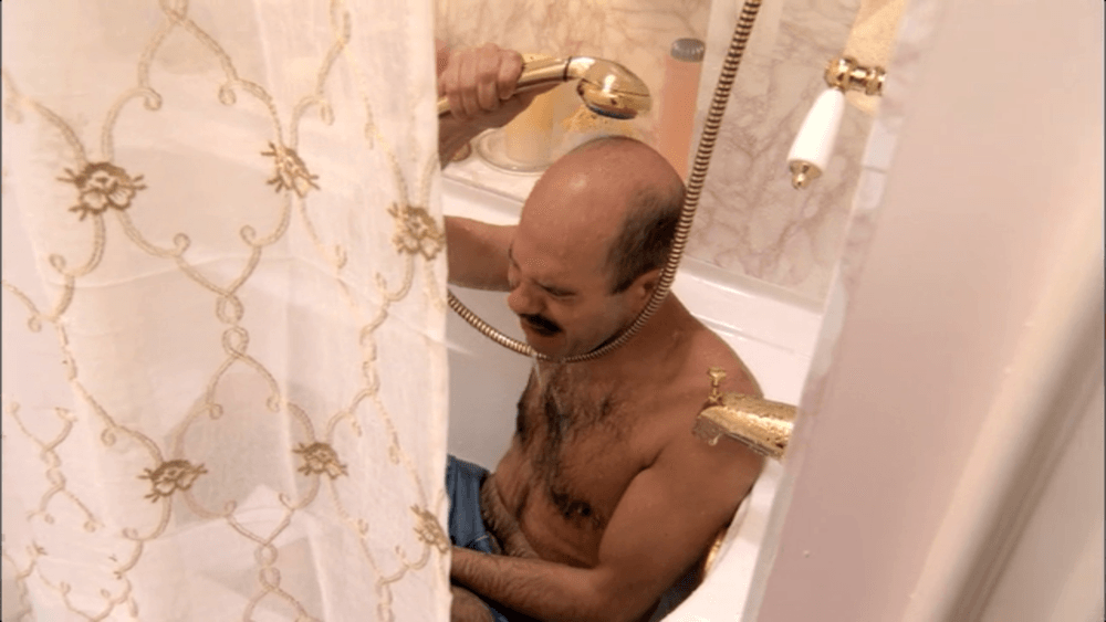 Tobias Funke crying in the shower after realizing he has poor financial planning and personal finance skills -- and failing at becoming an actor