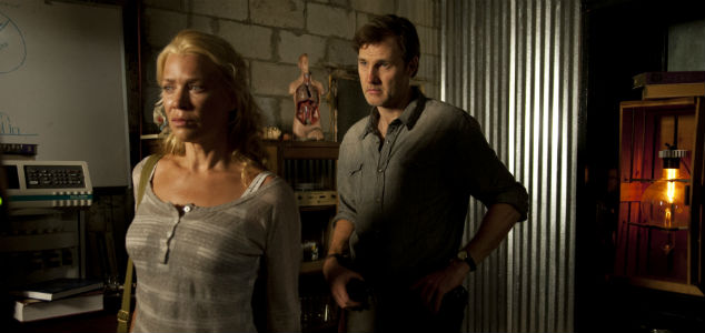 Andrea (Laurie Holden) and the Governor (David Morrissey) in Season 3 of 'The Walking Dead'