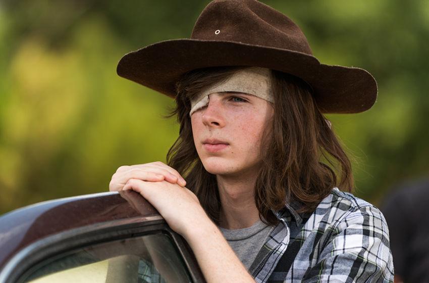 Carl on The Walking Dead