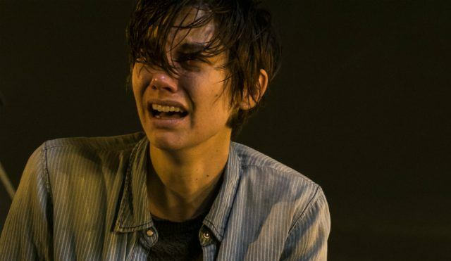 Maggie crying in a scene from the Season 7 premiere of 'The Walking Dead'