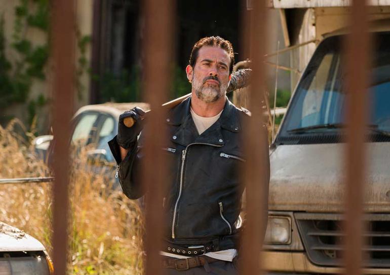 Negan on The Walking Dead
