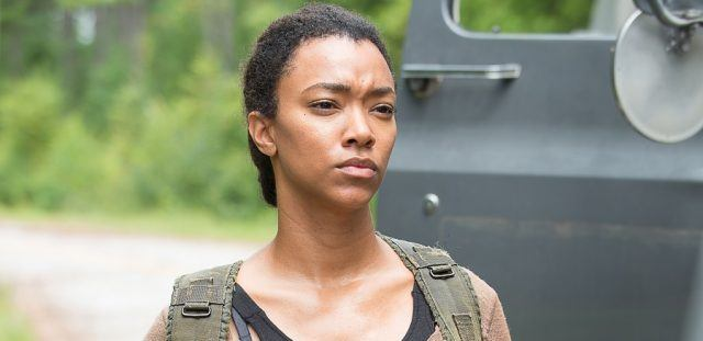 Sasha (Sonequa Martin-Green) in a scene from 'The Walking Dead'