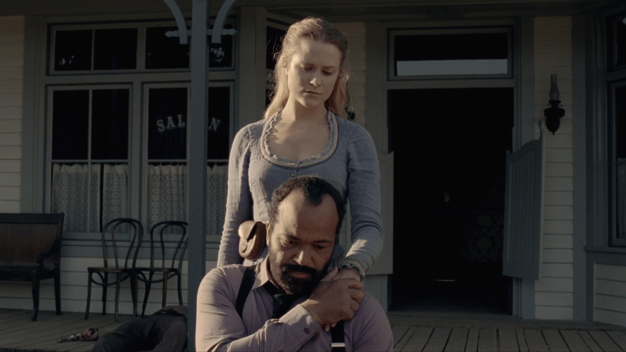Dolores and Bernard on Westworld