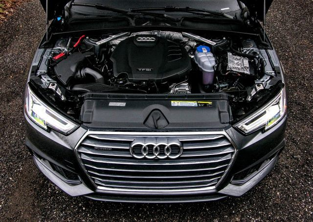 The engine of the 2017 Audi A4