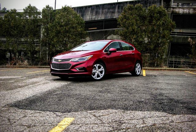 The 2017 Chevrolet Cruze strikes a pose somewhere between being sporty and a sensible daily commuter car
