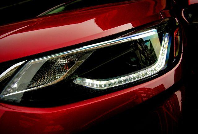 The tubed LED running lights on the 2017 Chevy Cruze are a sharp styling point