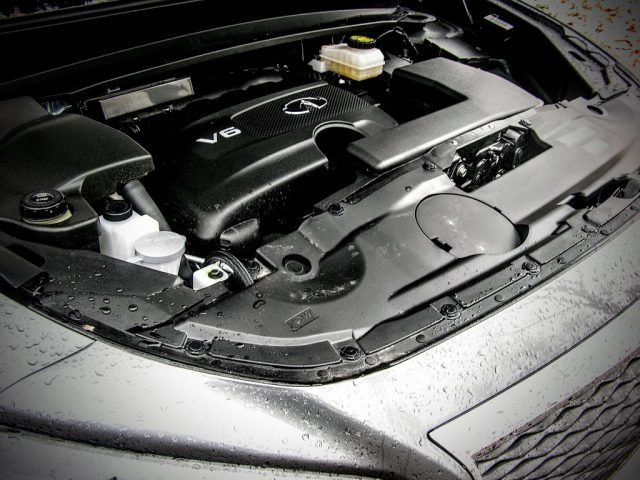 The updated 3.5-liter V6 in the 2017 QX60 gets more power while retaining the same fuel averages as the old powertrain