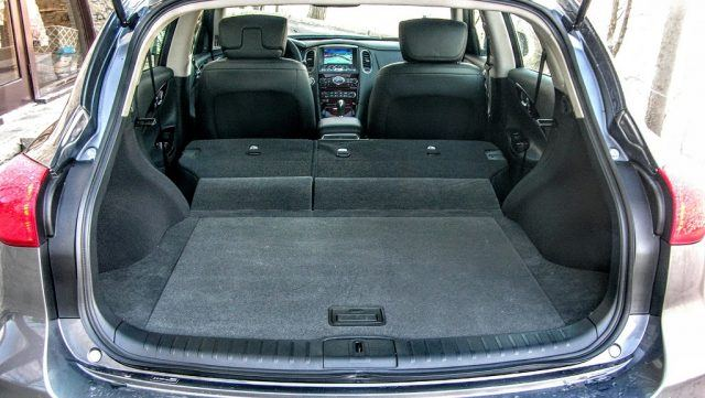 The rear cargo space in the QX50 should be plenty spacious for most buyers