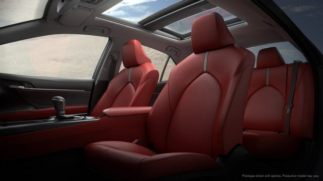 Loaded leather seats and multiple moonroofs are just a few of the fresh touches that will set the 2018 Camry apart from the pack and its older self