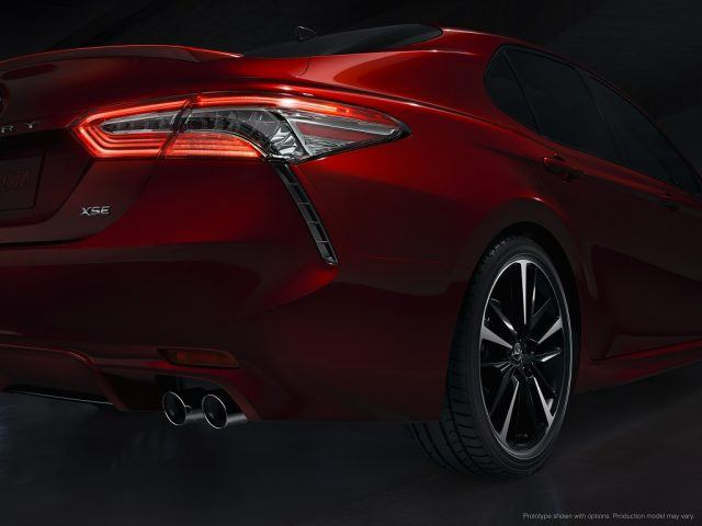 Taillights on the 2018 Toyota Camry show a futuristic lighting design