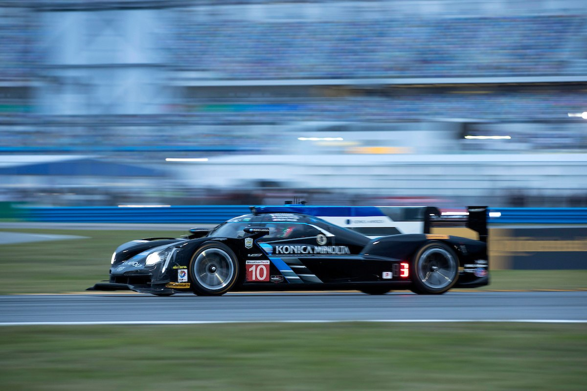 Cadillac Racing; Cadillac DPi-V.R Konica Minolta team at the Rolex 24 at Daytona in Daytona Beach, Florida | Richard Prince/Cadillac