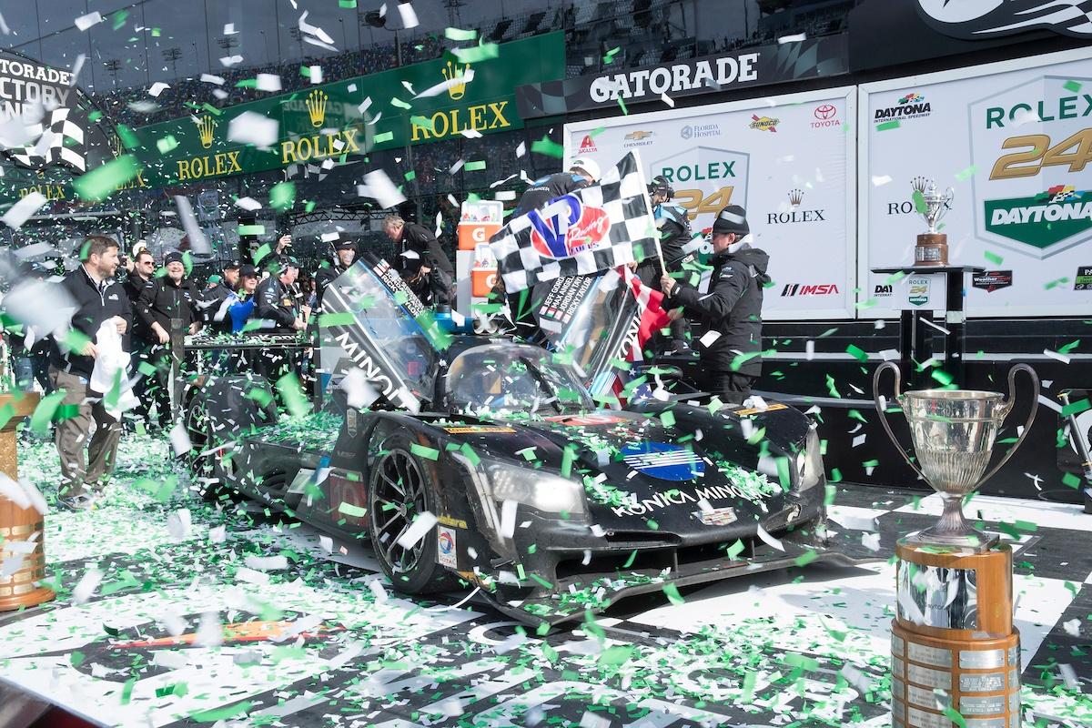 Cadillac Racing; Cadillac DPi-V.R Konica Minolta team at the Rolex 24 at Daytona in Daytona Beach, Florida   Richard Prince/Cadillac