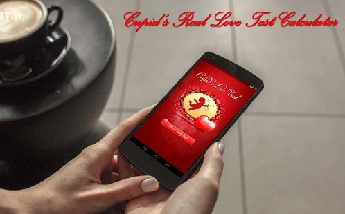 The Real Love Test Calculator app opened on a smartphone.