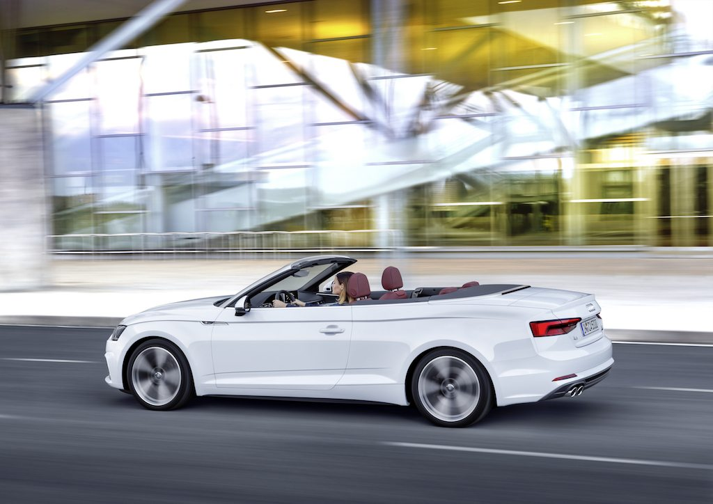 White Audi A5 Cabriolet convertible
