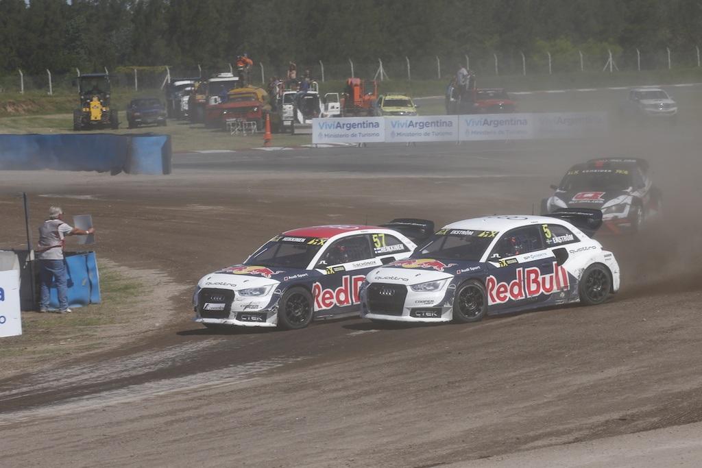 Toomas Heikkinen (Audi S1 EKS RX quattro), Mattias Ekström (Audi S1 EKS RX quattro) | Audi