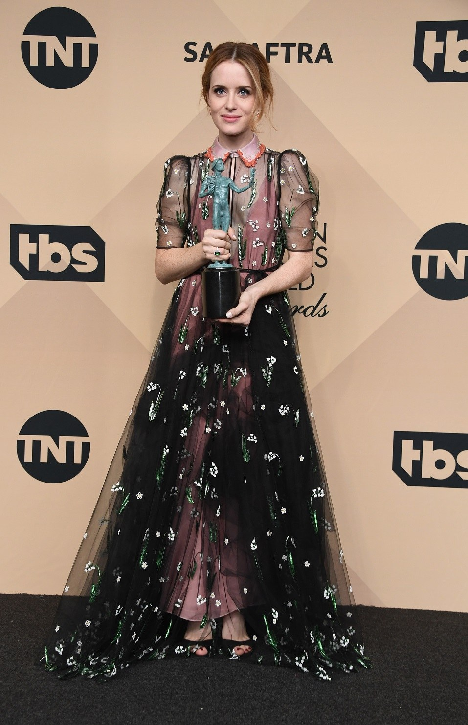Actor Claire Foy winner of the Outstanding Performance by a Female Actor in a Drama Series