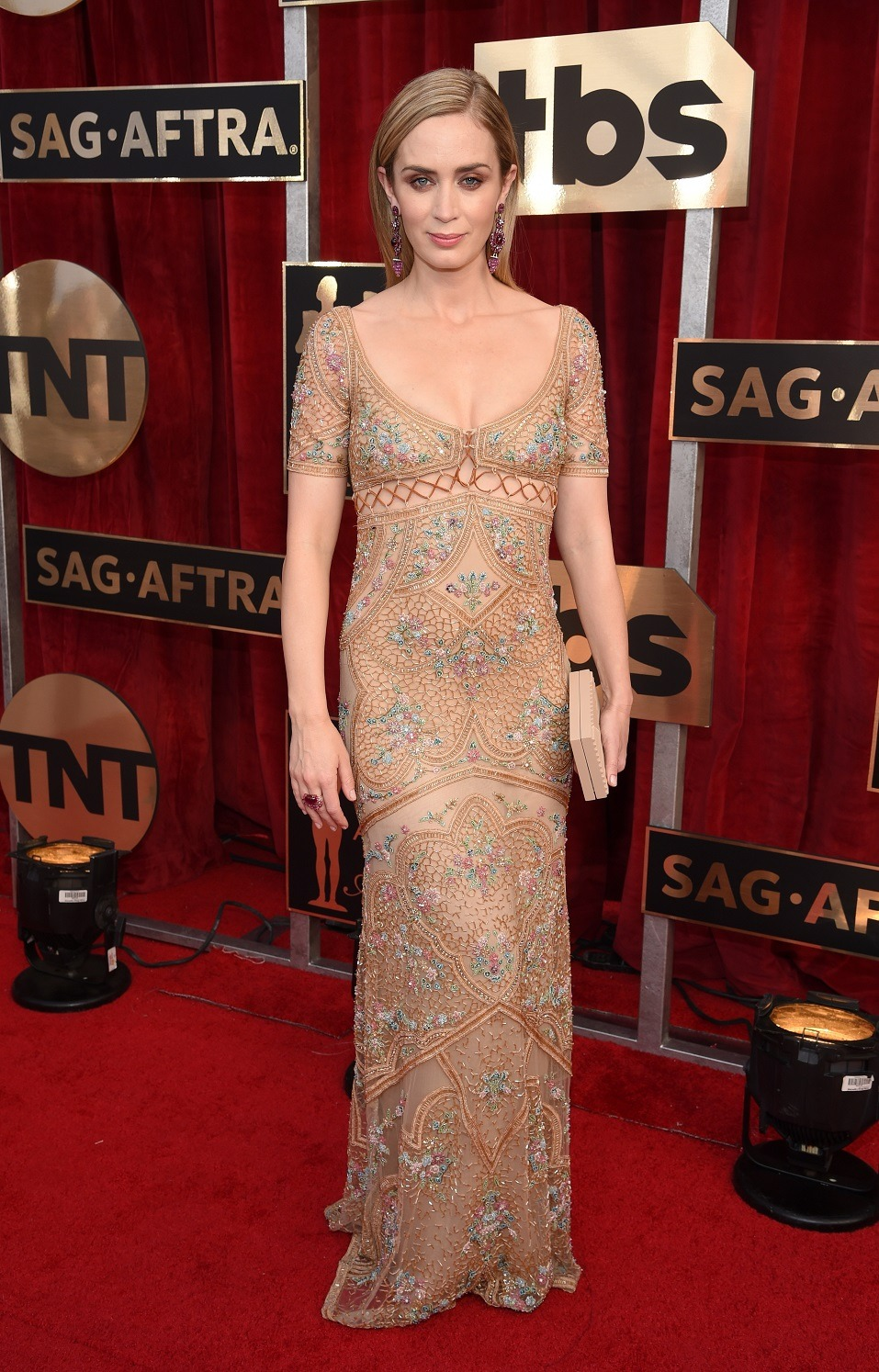 Actor Emily Blunt attends The 23rd Annual Screen Actors Guild Awards