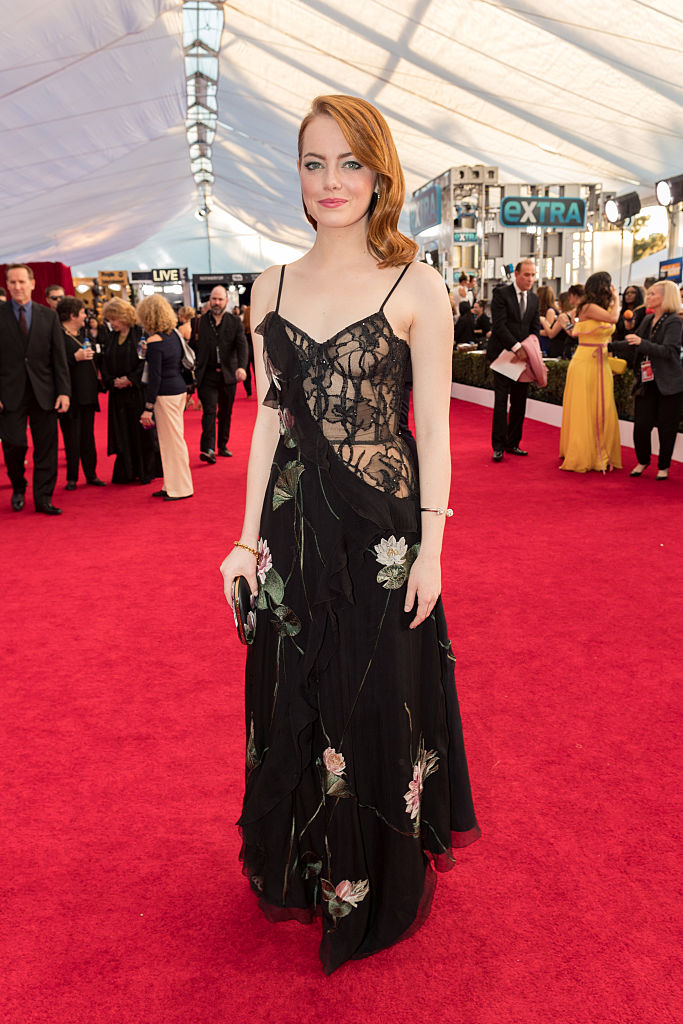 Actor Emma Stone attends The 23rd Annual Screen Actors Guild Awards at The Shrine Auditorium