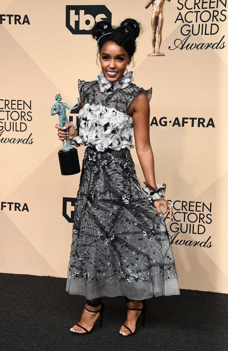 Actor Janelle Monae, co-recipient of the Outstanding Performance