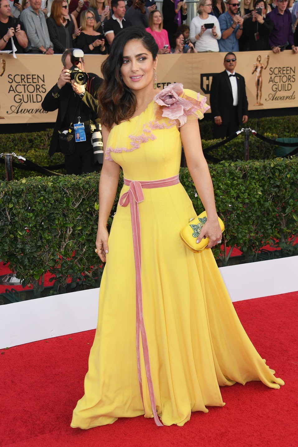 Actor Salma Hayek attends the 23rd Annual Screen Actors Guild Awards