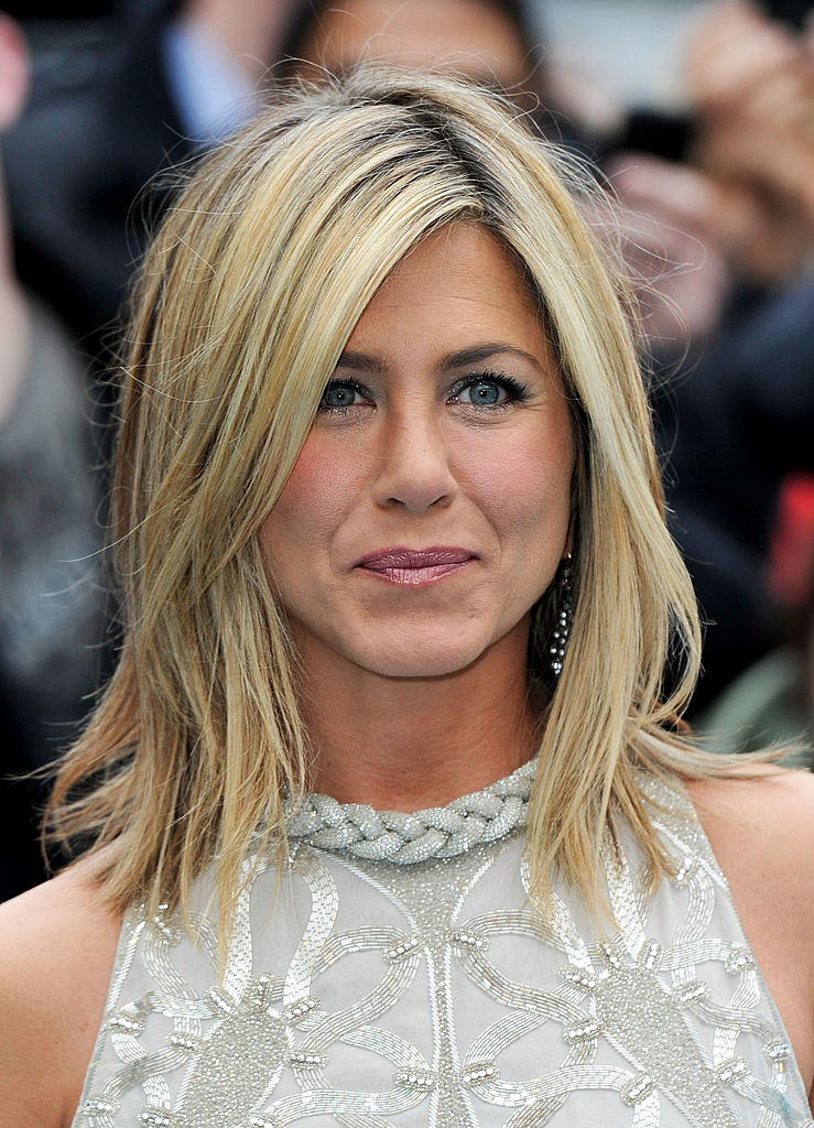 "Actress Jennifer Aniston attends the UK film premiere of ""Horrible Bosses"""