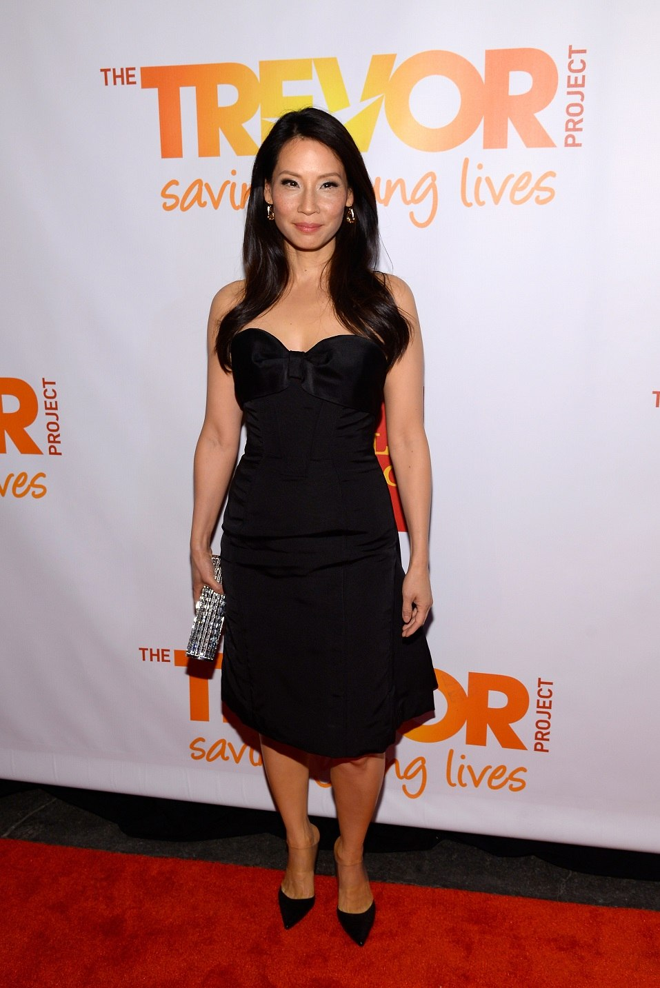 "Actress Lucy Liu attends the Trevor Project's 2014 ""TrevorLIVE NY"" Event at the Marriott Marquis Hotel"