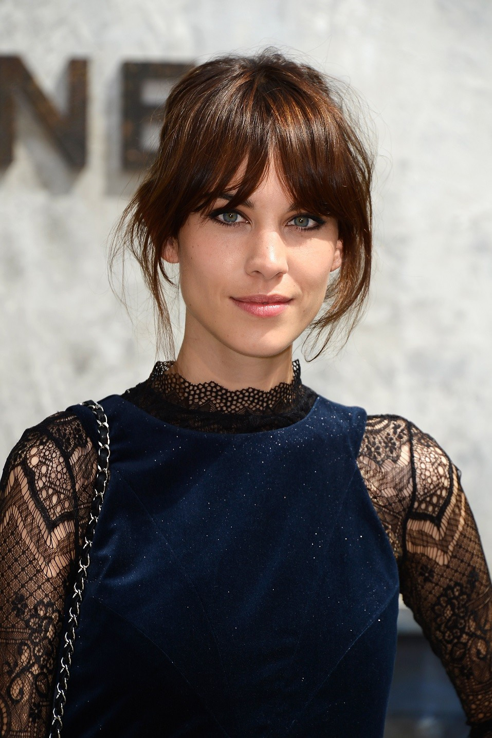 Alexa Chung attends the Chanel show