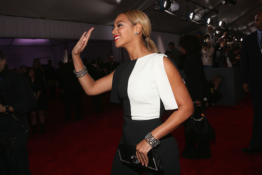 Singer Beyonce attends the 55th Annual GRAMMY Awards