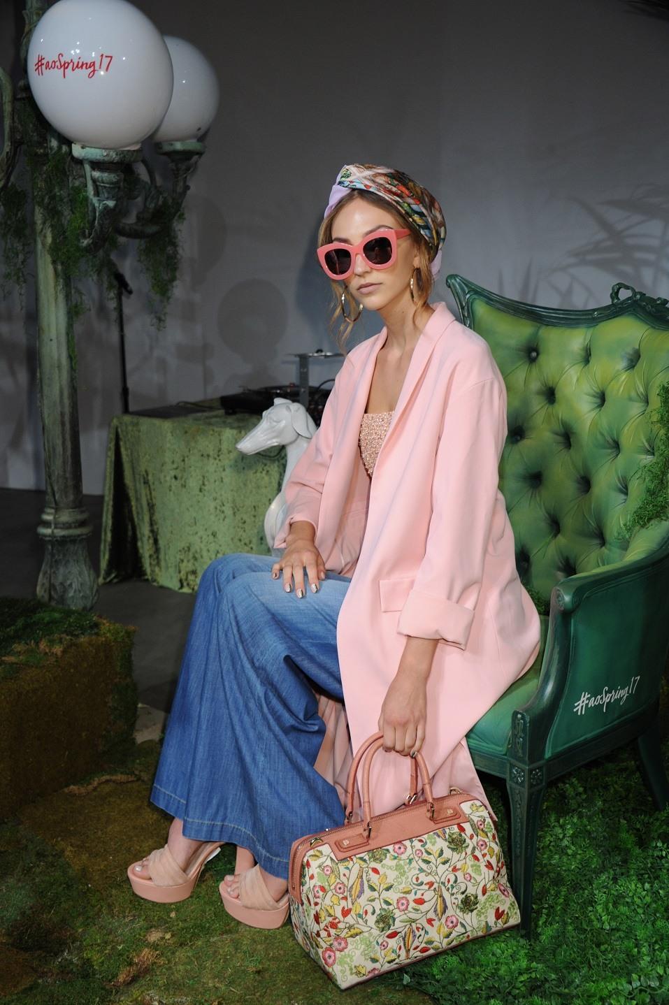 Models pose at the Alice + Olivia Spring/Summer 2017 presentation during New York Fashion Week